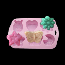 Silicone Cake Mold Beetle Butterfly Moon Star Shape Fondant Cake Decorating Sugar Craft Baking Mold