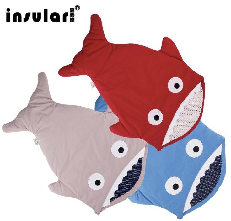Fuss Shipping Cute Carton Shark Winter Newborn Sleeping Bags Sack Warm Baby Blanket Warm Swaddle<br>