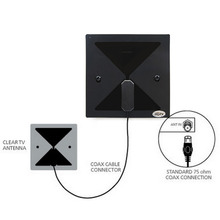 Indoor Clear TV HD Digital Antenna 300cm length 15 DB Standard 75 ohm Coax Connection Easy to install