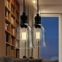 small size Modern lamp crystal bell glass pendant lights Dining room Indoor Contemporary lighting fixtures