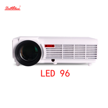 led96 3000lumens Android 4.4 1080P wifi led projector full hd 3d home theater lcd video proyector projektor projetor beamer bt96(China)
