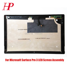 100% Genuine LCD Screen Assembly For Microsoft Surface Pro 3 LCD Display Touch Screen Digitizer 1631 TOM12H20 V1.1 LTL120QL01