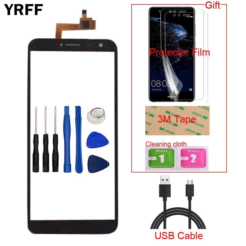 Touchscreen Protector-Film Oukitel C8 Digitizer-Panel-Sensor Front-Glass for Mobile title=