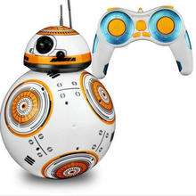 Star Wars RC BB-8 Robot Star Wars 2.4G remote control BB8 robot intelligent small ball Action Figure Toys International English(China)