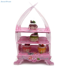 Cupcake Display Stand Paper Craft Decor Cake Stand Vintage Wedding Tea Party Cardboard Holder Rack Bakeware Cake Tools