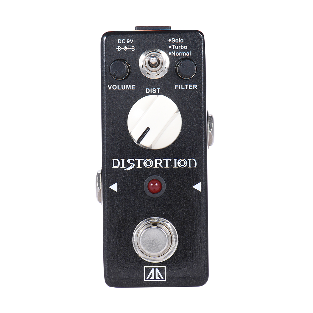 AROMA ABT-5 Warm Smooth Wide Range Distortion Sound Aluminum Alloy Body True Bypass Classic Distortion Guitar Effect Pedal<br>