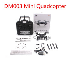 Quadcopter DM003 Explorer Spy 2.4GHZ 4CH 6-Axis Gyro 3D Roll Light RC helicopter quadrocopter MINI drone camera optional