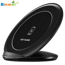 Hot-sale BINMER Fast Wireless Charger Qi Wireless Charging Stand Dock For Samsung Galaxy S7 / S7 edge / S6 Edge Plus Gifts
