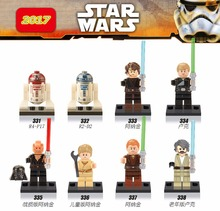 Single sale Star Wars R4-P17 R2D2 Anakin Luke Skywalker legoings Assemble DIY Bricks Set Model Builing Blocks Kids Gifts Toys