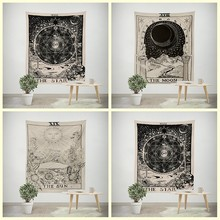 1pc Tarot Hanging Tapestries Sun Star Moon Tapestry Hippie Wall Hanging Blanket Wall Carpet Yoga Mat Home Decor YYY9693(China)