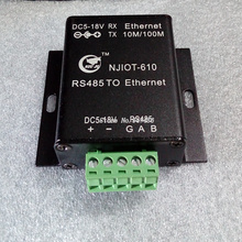 NJIOT-610 serial port server, RS485 to Ethernet, two-way wide voltage power supply, connection terminal