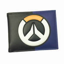 Blizzard Game Overwatch/Tokyo Ghoul 3D Wallets Tracer Reaper Overwatch Purse Billetera For Teenager Leather Money Bag(China)