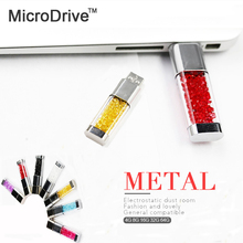 Glass full of colorful diamond USB Flash Drive 64GB 32GB 16GB 8GB 4GB USB2.0 Memory Stick Pen Drive External storage cute gift