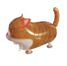 4pcs big walking cat balloons,birthday party wholesale pet balloons toys for children kids boys girls party supply decoration