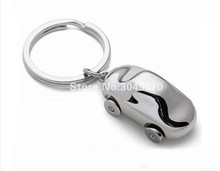 FUWEITE 5pcs/lot Car sticker Car key chain car model of Smooth surface key ring creative car styling(China)