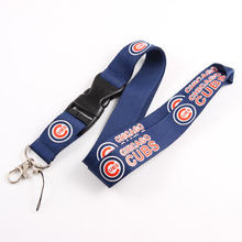 Chicago Cubs Lanyard Neck Strap For ID Pass Card Badge Gym Key Mobile Phone USB Holder DIY Hang Rope Lanyard Sport Fans Keychain