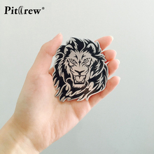 Car Decoration Animal Stickers Logo Metal 3D Lion/Eagle/Tiger Aluminium Emblem Badge Decal Auto Auto Styling Car Accessories(China)