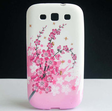 Pink Plum Flower Bee Design Soft TPU GEL Back Protective Skin Cover Case For Samsung Galaxy S3 SIII i9300 Coque Funda Capa New