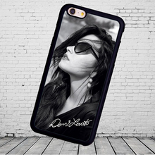popular star Demi Lovato signed  Phone Cases Accessories For iPhone 6 6S Plus 7 7 Plus 5 5S 5C SE 4S Soft Rubber Cover Shell
