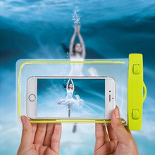 Premium PVC Luminous Waterproof Phone Case Cover Water Proof Underwater Bag for Iphone Huawei P10 Samsung S8 xiaomi redmi 6 inch