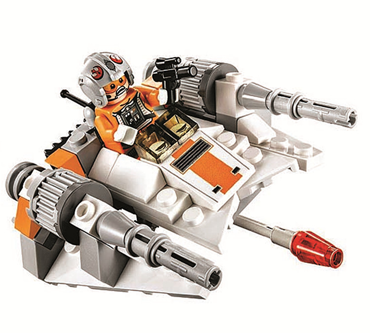 Star Wars Snowspeeder compatible Lego 75074