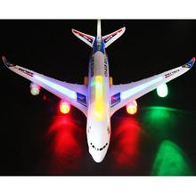 A380 Model Bump&Go Aeroplane With Flashing Light Music Electric Toy Airbus Aircraft Airlines Plane Toys