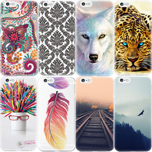2017 New Pattern Phone Case For iPhone 7 6 6S Plus 5 5S SE 4 4S For Apple Animal Flower Printed Soft TPU Back Cover Capa