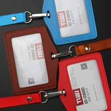 2017 Business Card Case Holder Portable String Fashion ID Bus Identity Badge with Lanyard Porte Carte Credit PY047