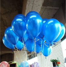 Sky blue balloon 100pcs/lot 1.2g 10 Inch Pearl Helium wedding Decorations Metallic Ball Baby toy Latex ballon