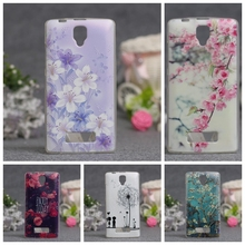 Luxury 3D Style Cartoon Flowers Zebra Clear Back Cover Soft TPU Case For Lenovo A2010 A 2010 Slim Thin Silicone Phone Cases(China)