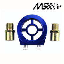 M20X1.5 3/4-16 1/8 NPT Aluminum Racing Oil Pressure Gauge Oil Filter Sandwich Adapter