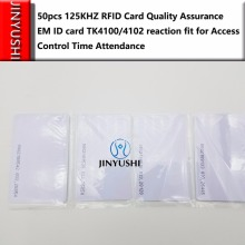 50pcs/lot Quality Assurance EM ID CARD 4100/4102 reaction ID card 125KHZ RFID Card fit for Access Control Time Attendance(China)