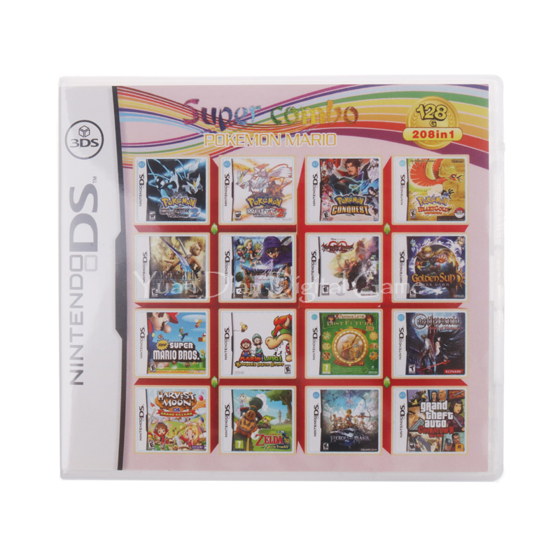 Nintendo NDS 208 IN 1 Video Game Cartridge Console Card <br>