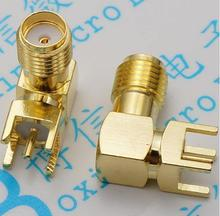 SMA elbow the SMA-KWE outside screw hole SMA RF bridge RF antenna 90 degrees of RF connector 5pcs/lot