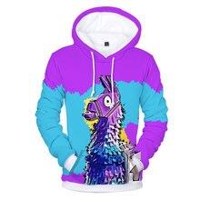 2018 Battle Royale Hoodies 3D Popular Game Hoodies Men Rainbow Smash Pony Horse Printed Hooded Sweatshirt Kids Casual Streetwear
