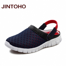 JINTOHO Unisex Casual Sandals Shoes Fashion Breathable Mesh Shoes Summer Men Sandals Cheap Men Slippers Sandals Walking Shoes(China)