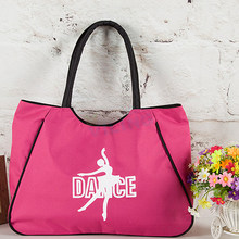 pink ballet dance bag black hanhandbags for girls women dancer Embroidered Clutch good Water-proof fabric bag(China)
