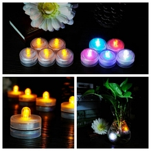 12x Waterproof Candles Submersible LED Tea Lights Wedding Party Colorful New CYF9126