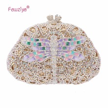 Fawziya Hot Bag Dazzling Dragonfly Clutch Purses For Womens Evening Bag