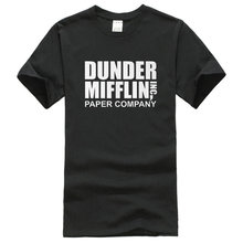 Company T Shirt Design Short The Office TV Show Dunder Mifflin Paper Crew Neck Fashion 2016 Tee Shirts For Men(China)
