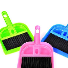 Mini Household Desktop Cleaning Sets Portable High Quality Small Broom Cleaning Brush & Dustpan 3 Candy Colors Wholesale 20JE1