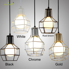 5 colors Modern creative personality Balcony Wrought Iron Pendant Lights,Vintage Edison Pendant Lamps birdcage pendant lights(China)