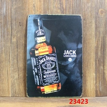 JACK lives here! Whiskey! tin sign vintage metal plate retro iron painting wall decoration for bar cafe club pub restaurant