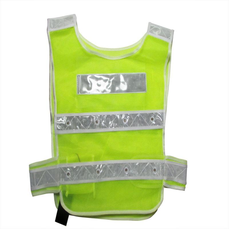Newest Stylish White reflects light Security Safety Mesh Vest Traffic Reflective Stripes Waistcoat Jacket  Yellow Work Wear<br><br>Aliexpress