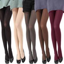 Buy Women Thick 120D Stockings Pantyhose Tights Opaque Long Footed Temptation Sheer Mock Suspender Pantyhose Tights