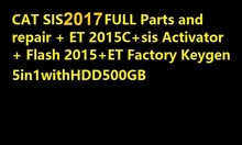 SIS 7-2017+Flash 2016+HDD 500GB+ET 2015A+Price 2017+activator for SIS and ET2015A unlimited install for red cat(China)