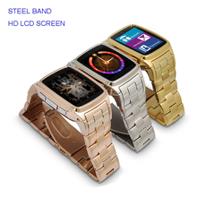 Top Design Classic Smartwatch Phone JAVA Stainless Steel Smart Bluetooth Watch Mobie Wristwatch with HD DV Recording FM Radio(China)