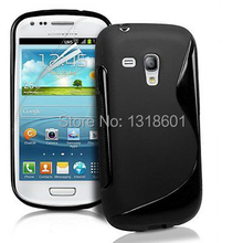 For Samsung Galaxy S3 Mini i8190 S-Line TPU Soft Silicone Shockproof Mobile Phone Case Cover