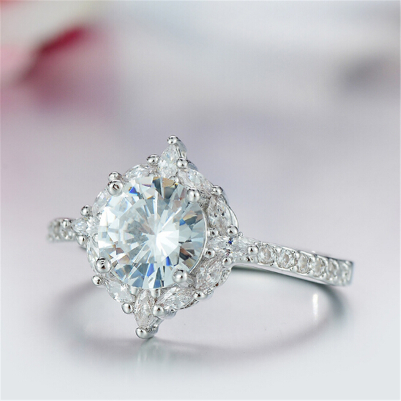 Limited edition Wedding ring Special moment for her Best gift Simple Top quality Silver Ring Engagement anel feminino 4