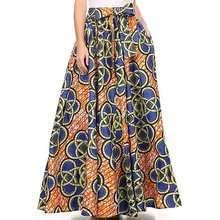 2017 Maxi Pattern African Print Ankara Ball Gown Skirt Elegant Style Long Skirt Customized Unique Plus size with bowknot BSQ17